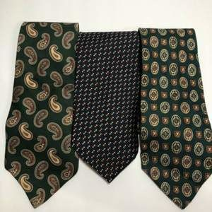 3 TOMMY HILFIGER Neck Ties 100% Silk Made in USA